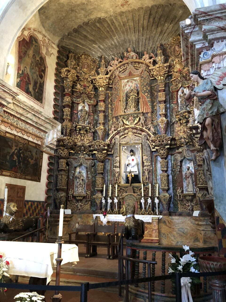 San Xavier Mission's altar