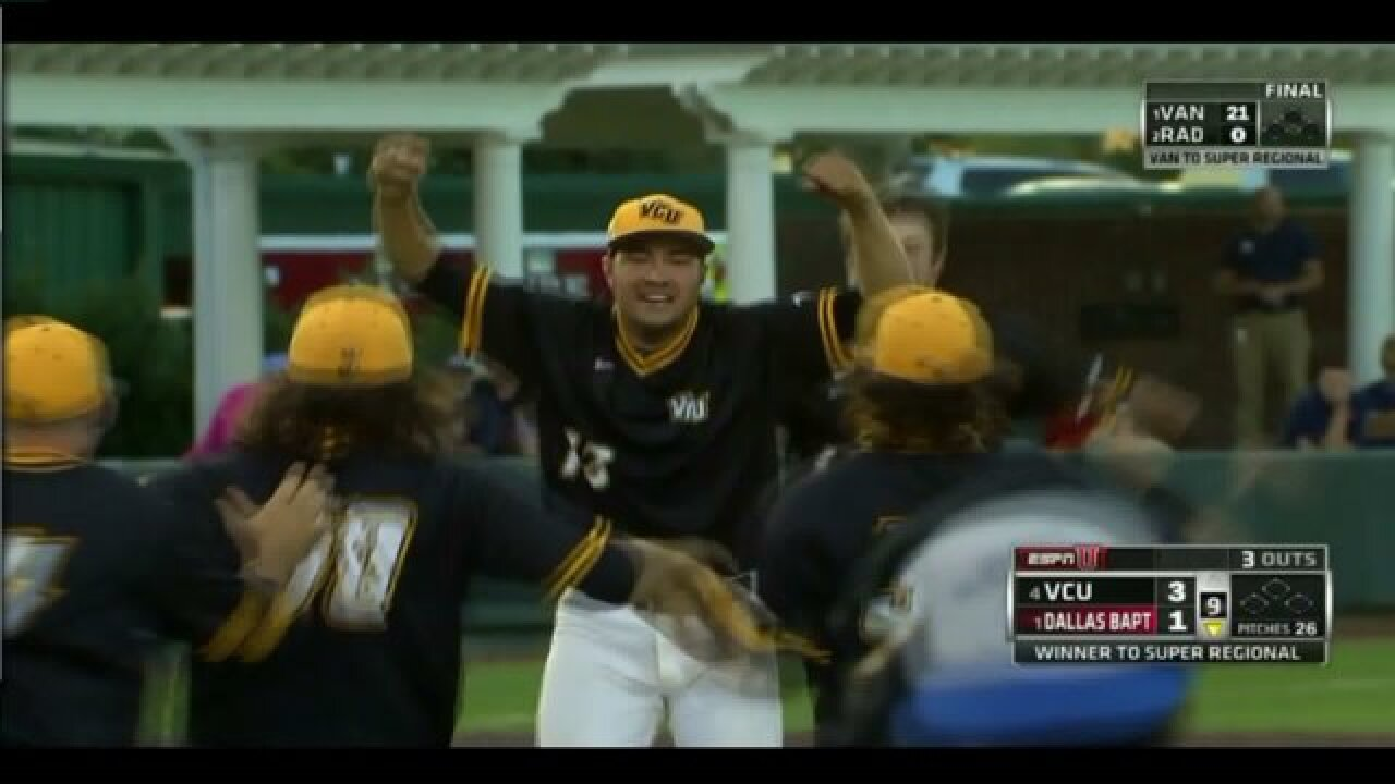 VCU wins first baseball regional title in schoolhistory