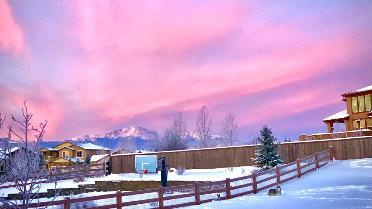 Cotton candy skies over Colorado Springs