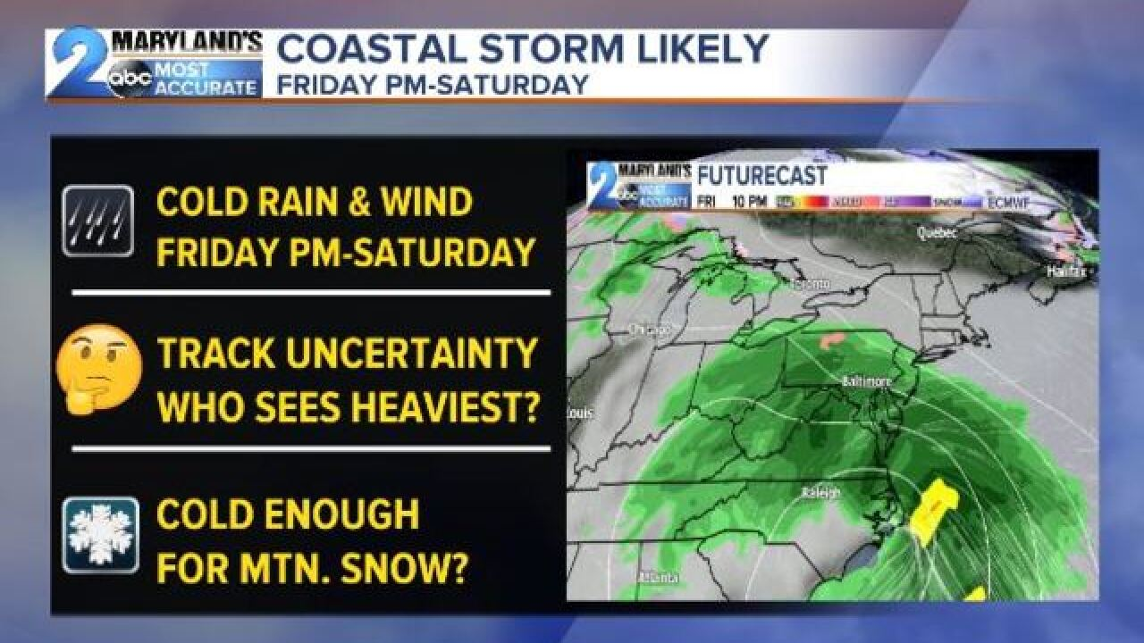 COASTAL STORM? This Weekend