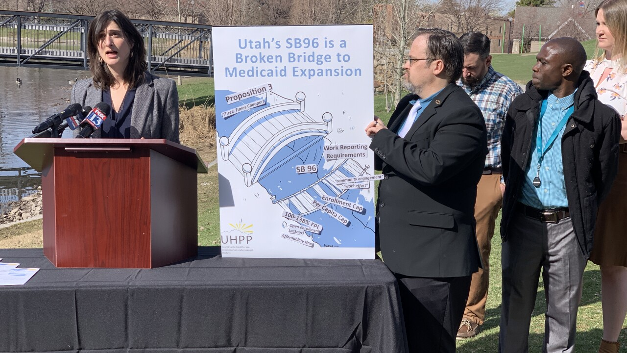 Critics say Utah's Medicaid expansion leaves thousands without coverage and is in danger of alawsuit