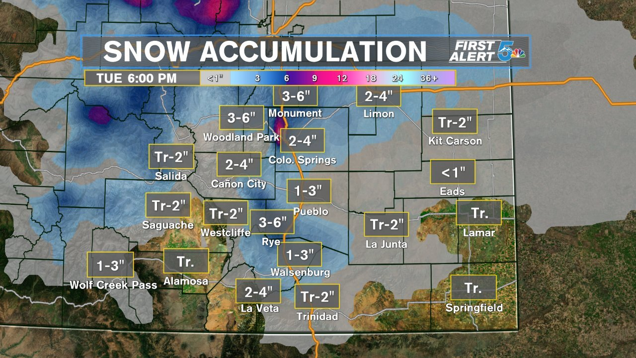 Southern Colorado Snow Forecast