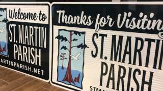 Signs welcoming visitors are going up in St. Martin Parish