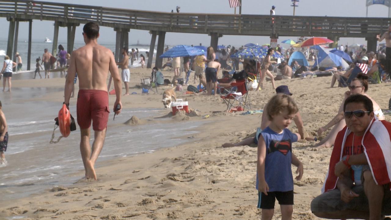 VB beachgoers