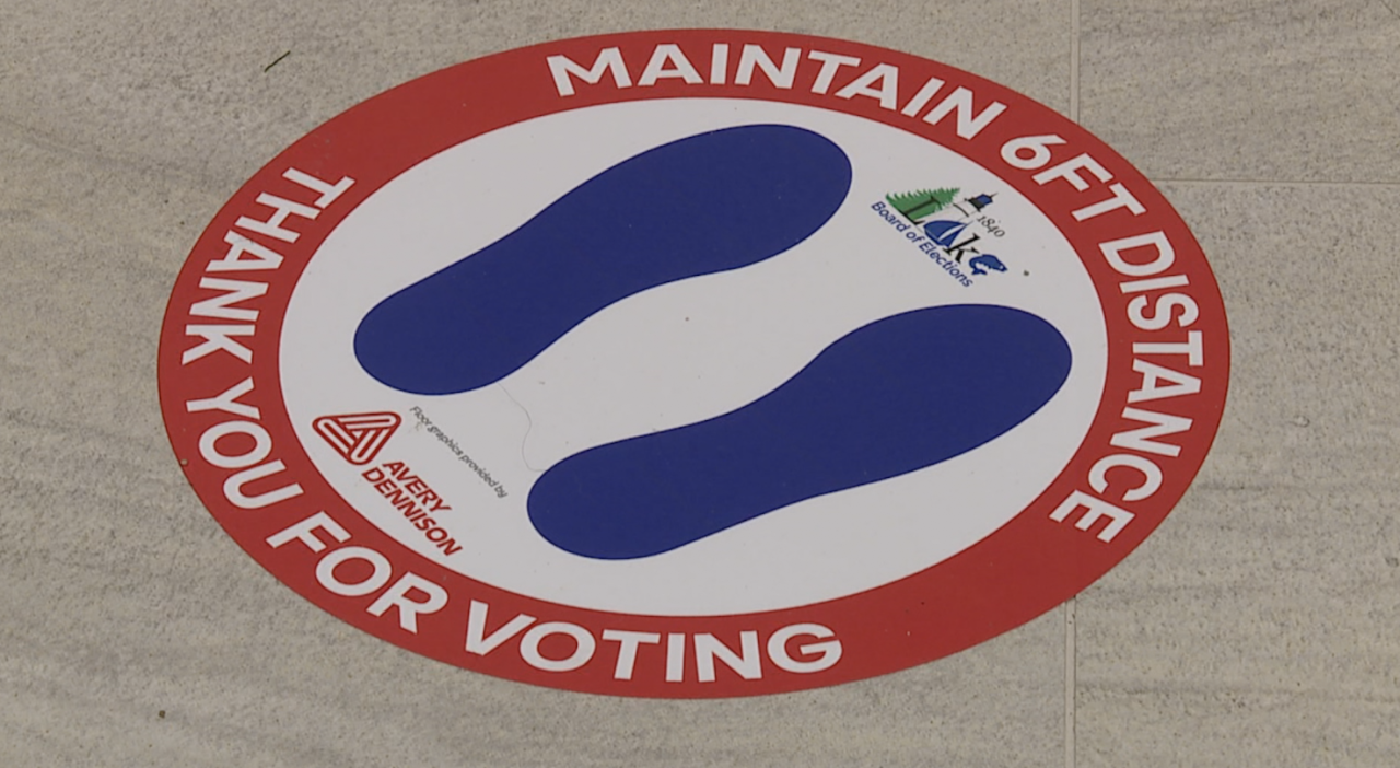Lake County Board of Elections saves thousands of dollars thanks to donated floor stickers