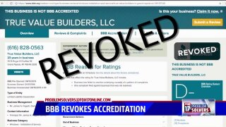 Problem Solvers: BBB revokes business accreditation as more complaintssurface