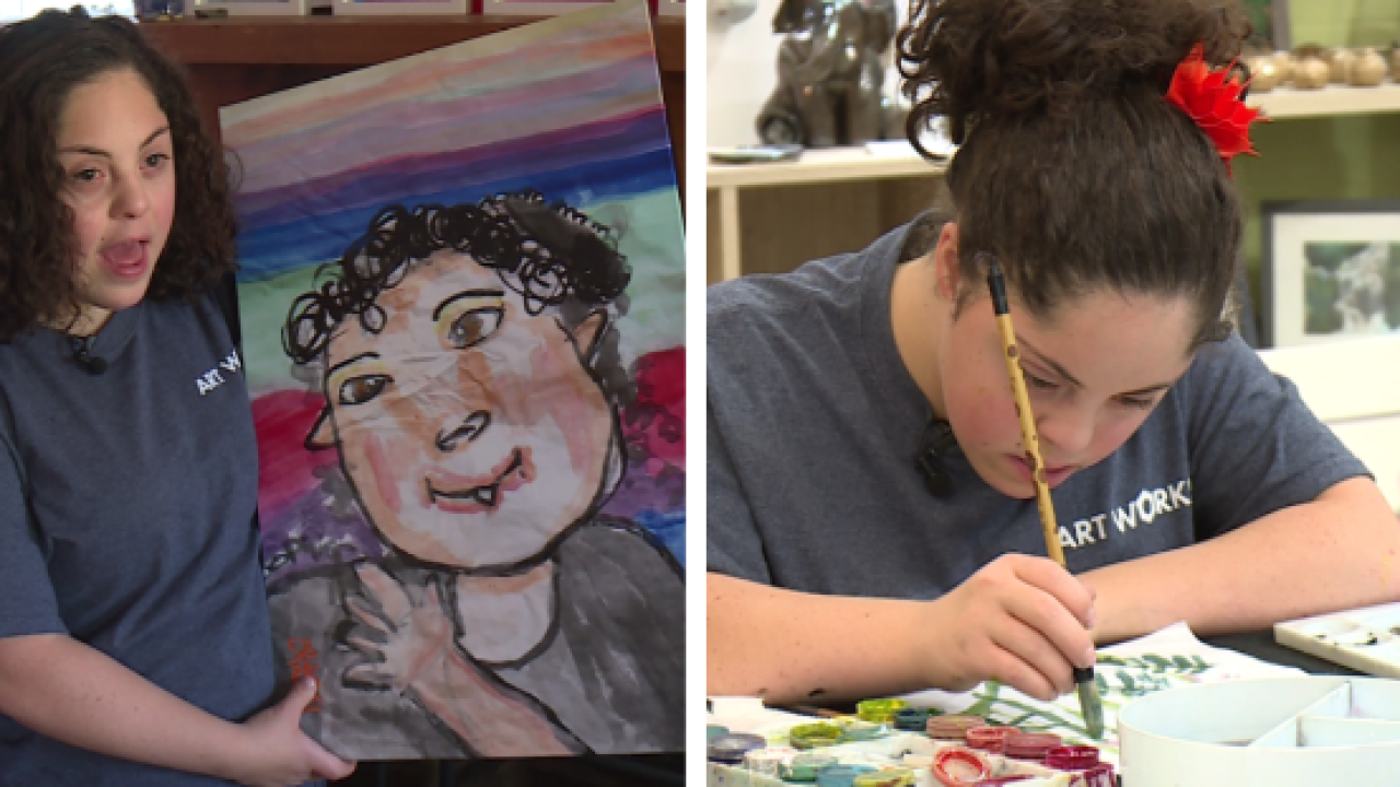 This Fredericksburg teen wasn't supposed to survive. Now she makes hundreds off herpaintings