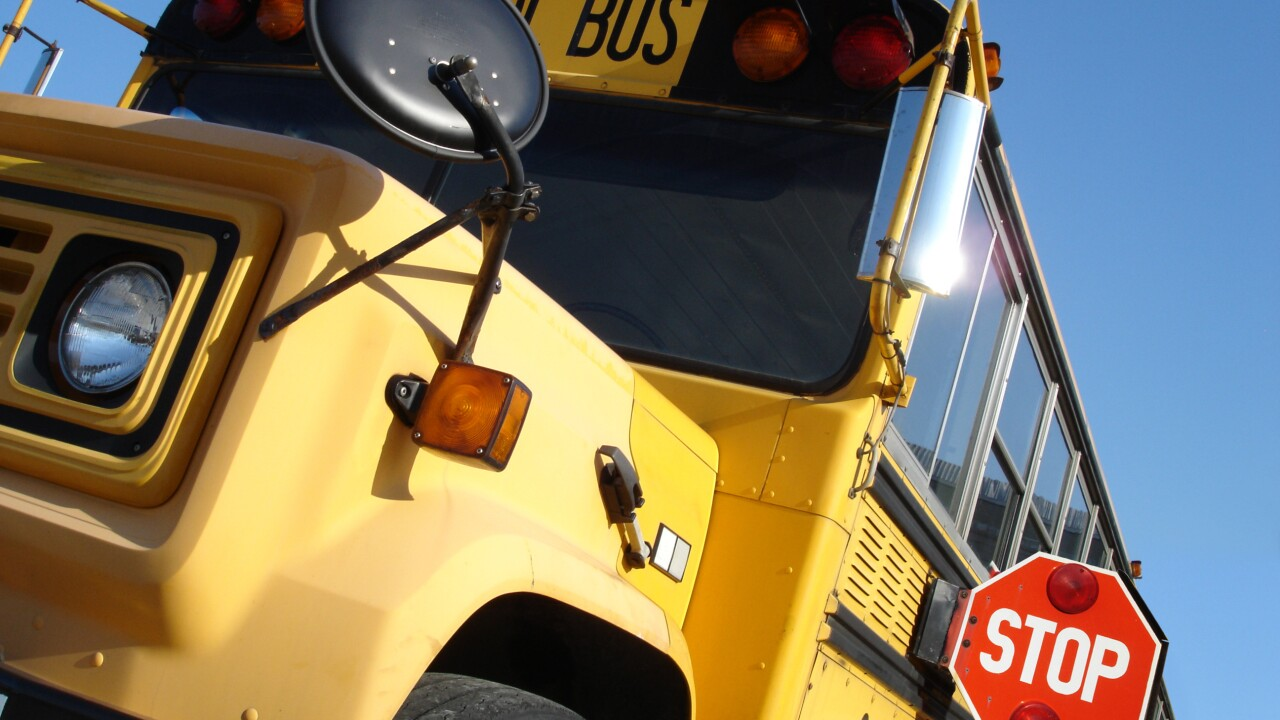 School bus in Portsmouth hit; no students involved