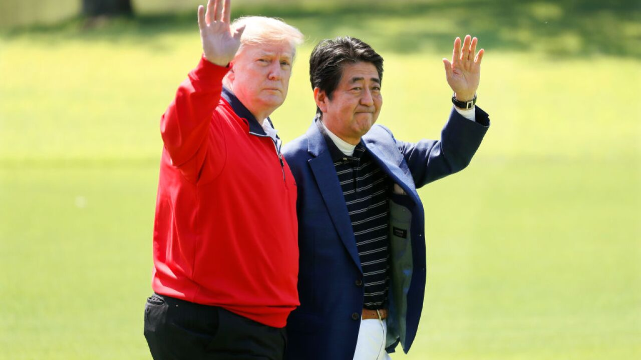 Sumo, golf and barbecue: Trump and Abe bond after a tweet underscored divides