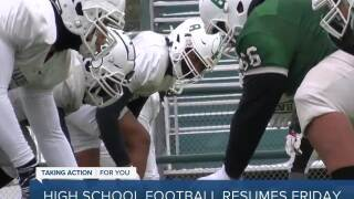 High school football resumes Friday