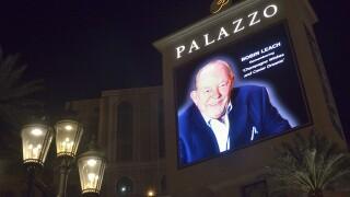 PHOTO: Robin Leach tribute on Las Vegas Strip