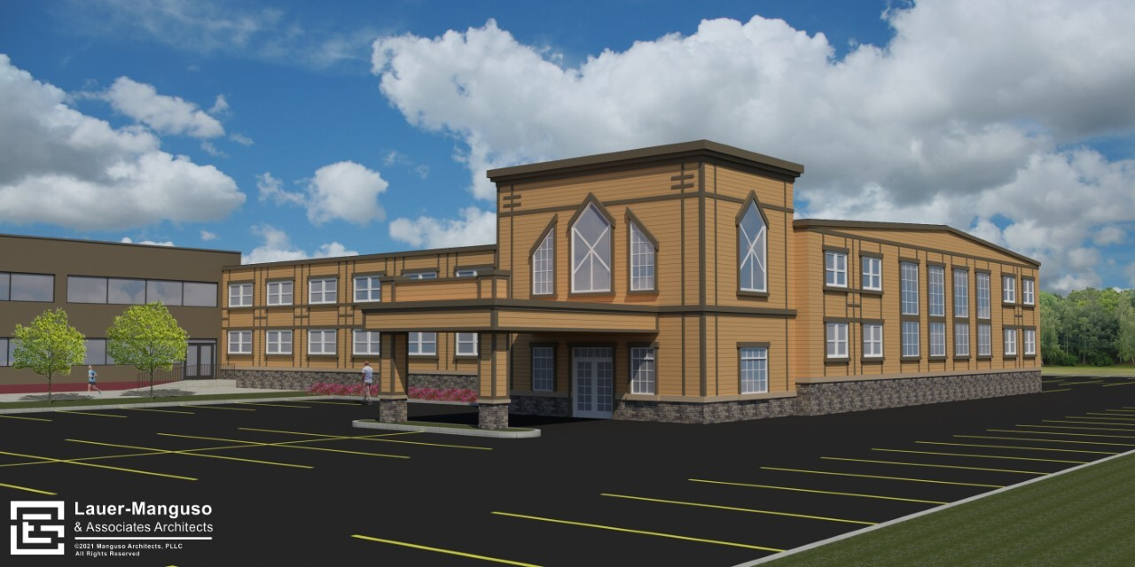 Another angle of the projected building, to be built on 300 Gleed St.