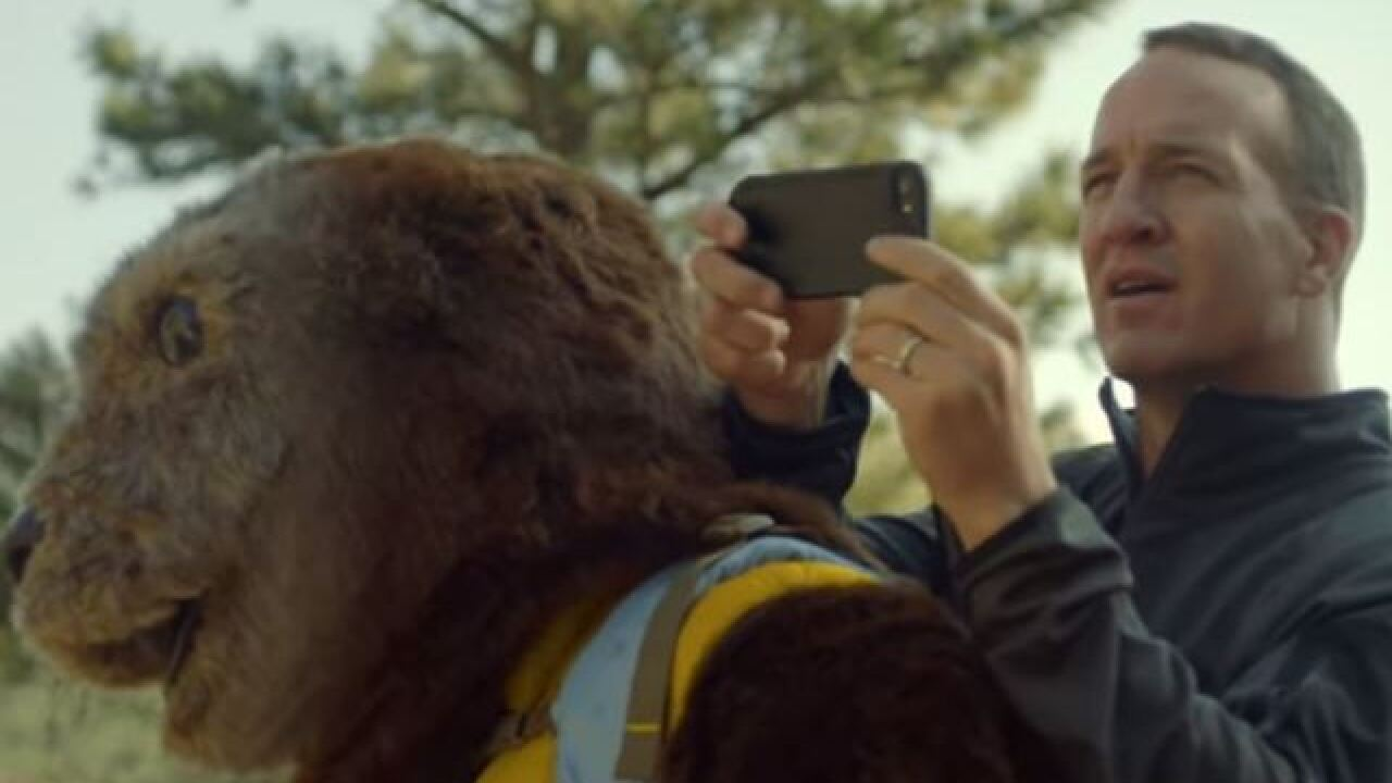 Peyton Manning stars in three new commercials with Ollie the Otter for OtterBox