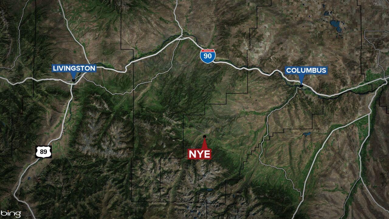 Nye Montana map