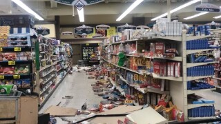 Man drives through Columbia Falls grocery store