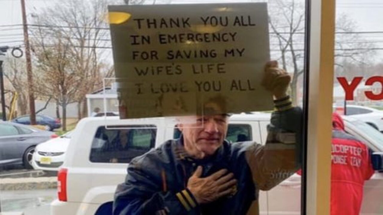 Man Made An Inspiring Sign For The Healthcare Workers Who Treated His Wife