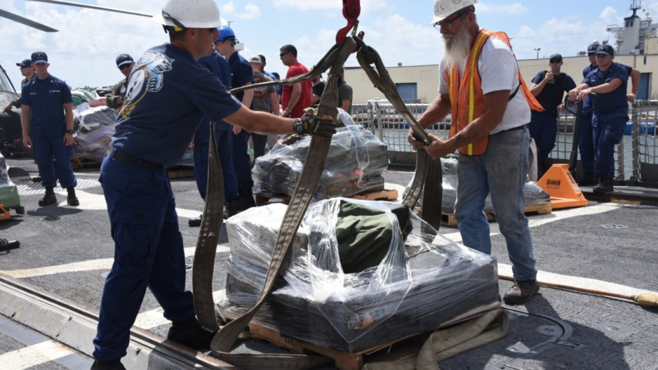 Portsmouth-based Coast Guard crew offloads $62 million worth of drugs at Florida port