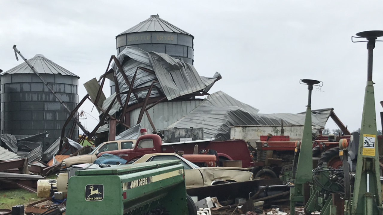 Two barns destroyed in Colquitt following thunderstorms