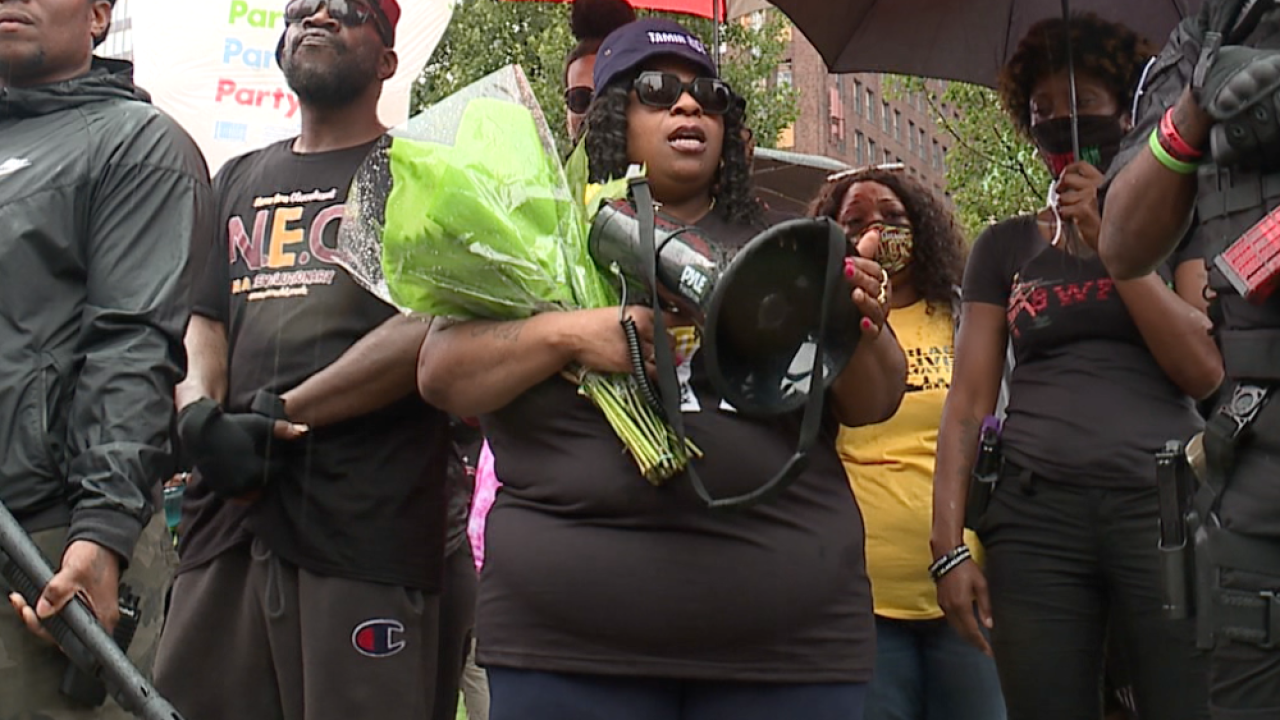 The family of Tamir Rice holds rally and march and reacts to Chauvin sentencing