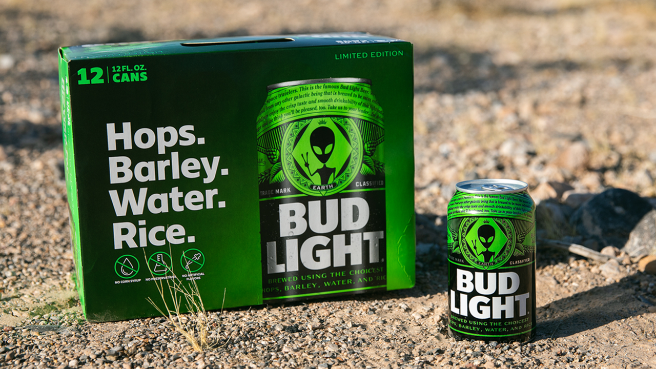 Bud Light offering alien-themed beer cans and gear