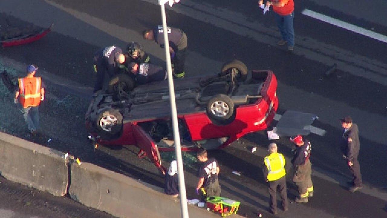 Rollover Crash Snarls Traffic On I-40E At I-440