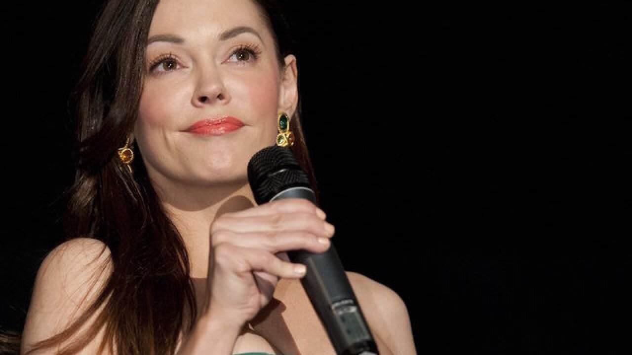 Rose McGowan gives stirring speech in first public appearance since Harvey Weinstein rape allegation