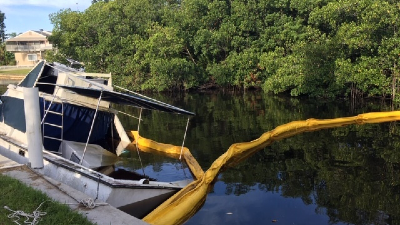 Hazmat crew responds to boat leaking fuel