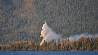 Wildfire reported on Flathead Lake's Bird Island