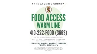 Anne Arundel Food Warm Line