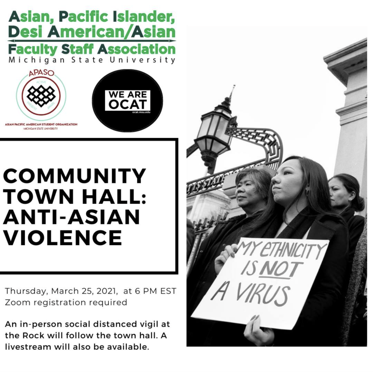 MSU to host town hall on anti-asian violence
