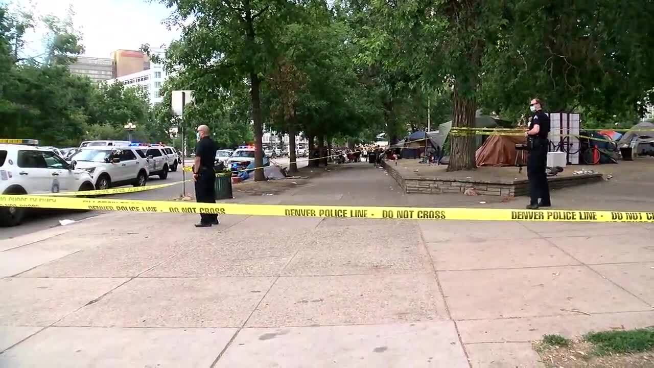 civic center park colfax broadway triple shooting denver
