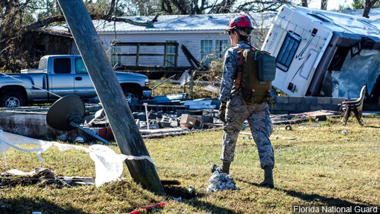 Hurricane Michael national gaurd