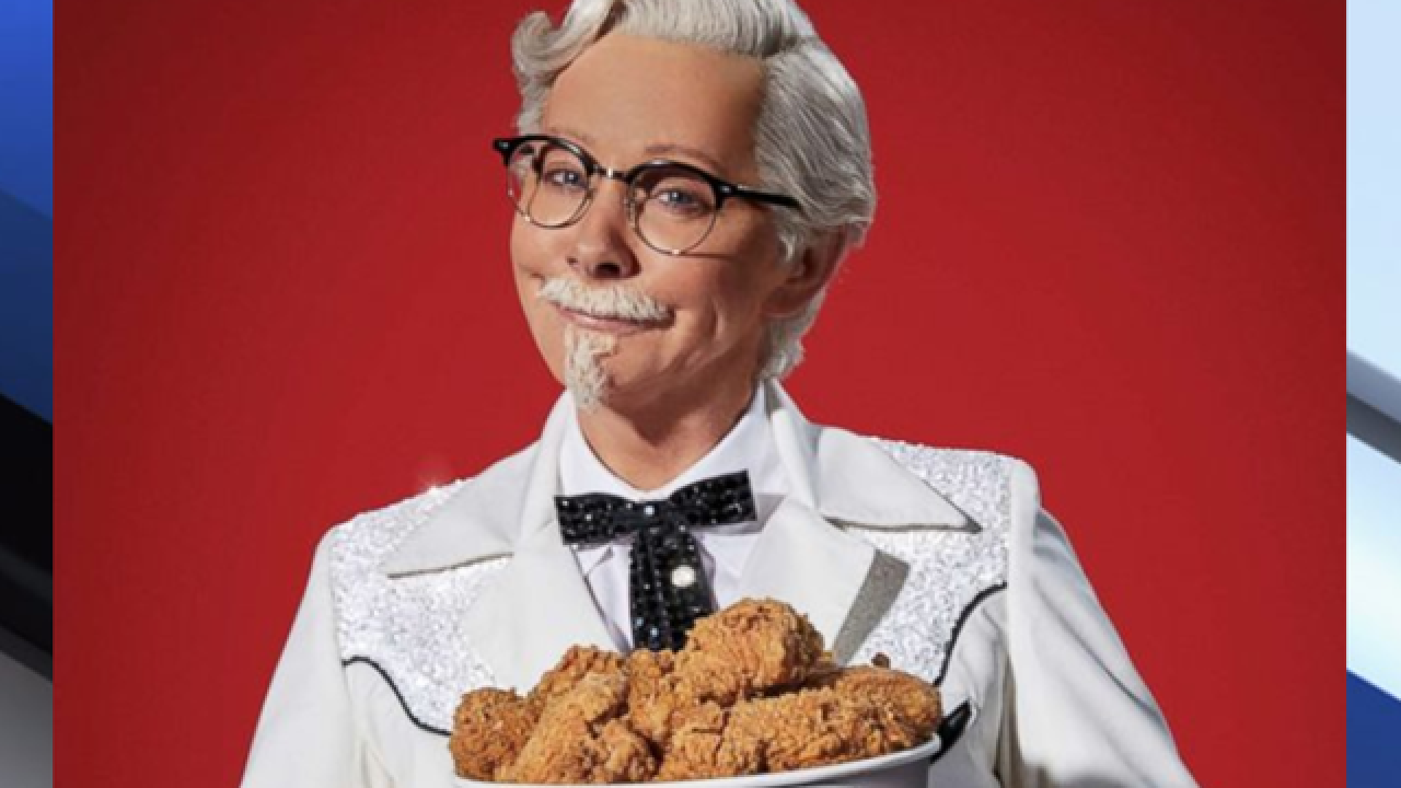 Reba is first woman to play Colonel Sanders