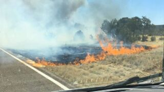 Highway opens after being closed due to wildfire