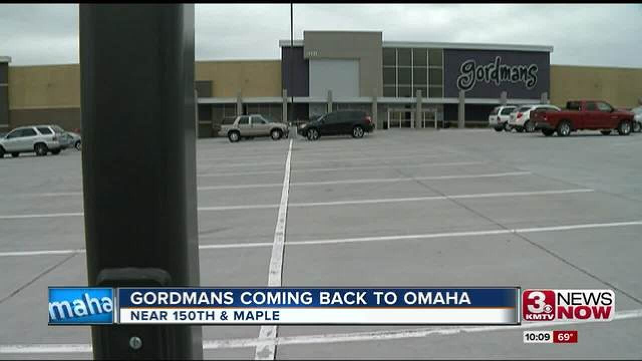 Gordman's re-opening under new ownership