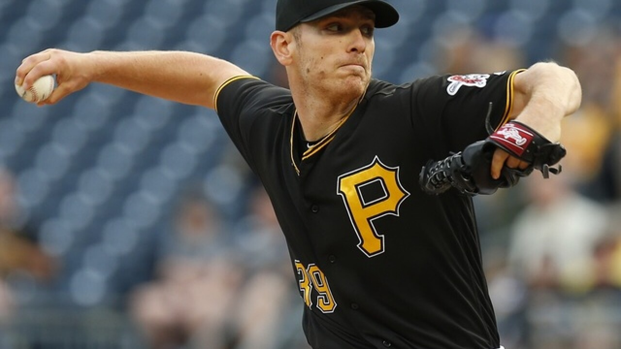 Kuhl goes 6, snaps winless streak as Pirates beat Reds 3-2