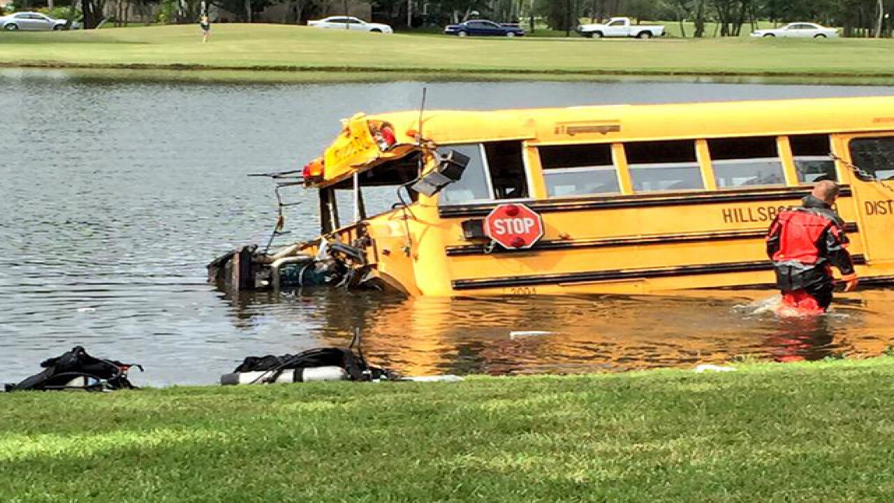 Bus driver charged in Odessa lake crash