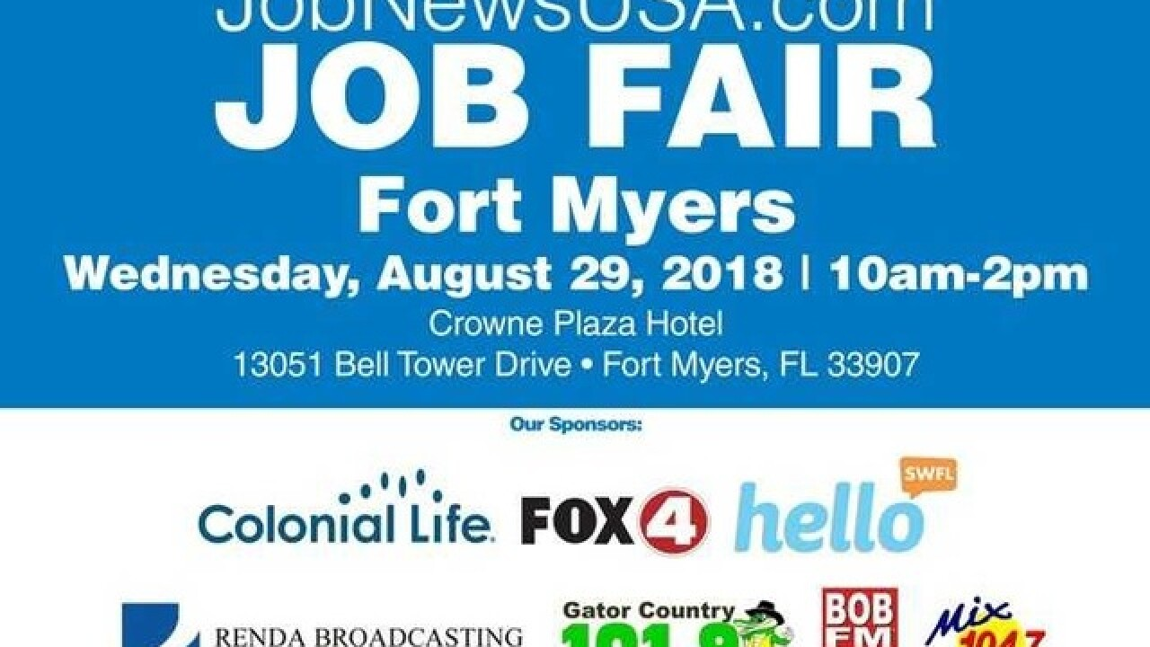 Hundreds of jobs available at Fort Myers job fair on August 29th