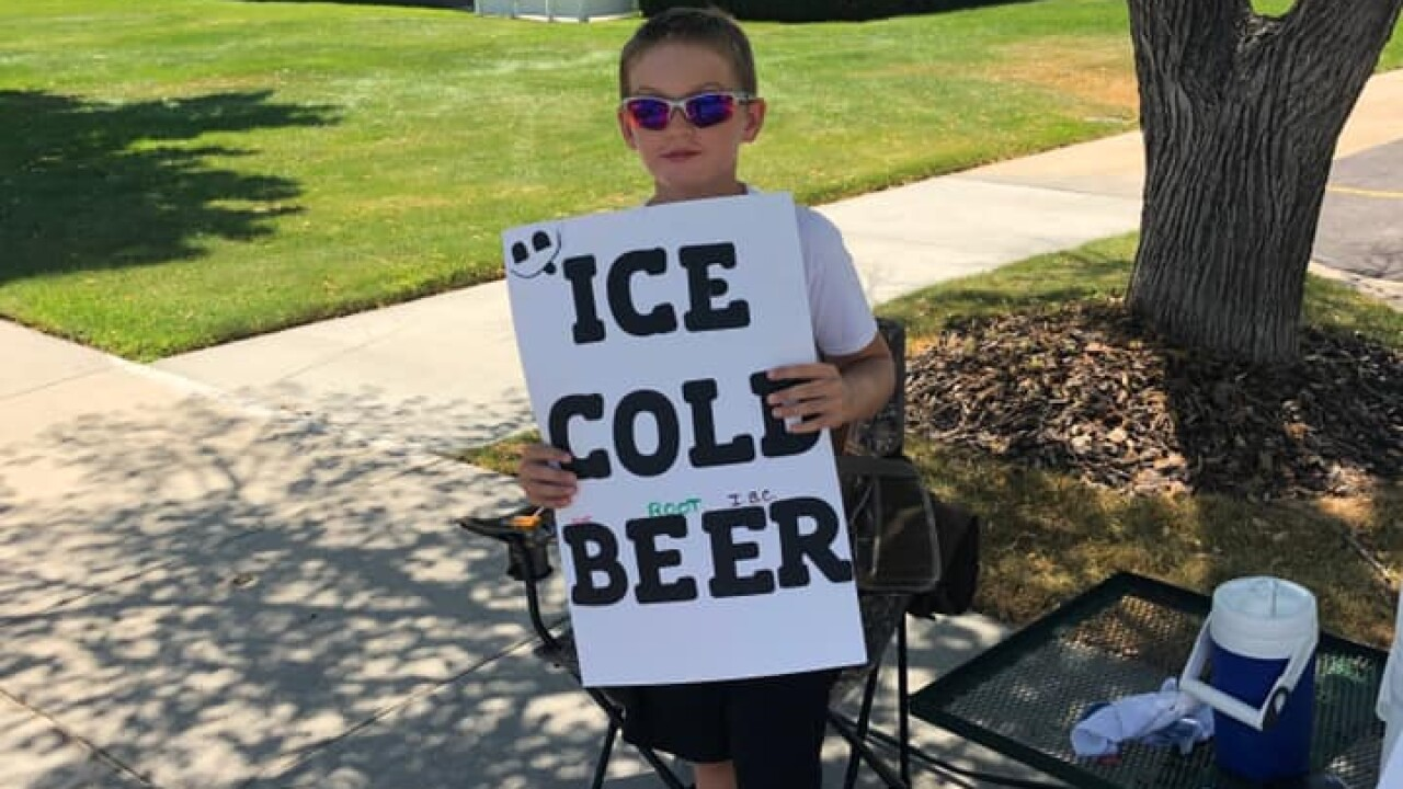 Utah boy selling 'ICE COLD BEER' results in several calls to police