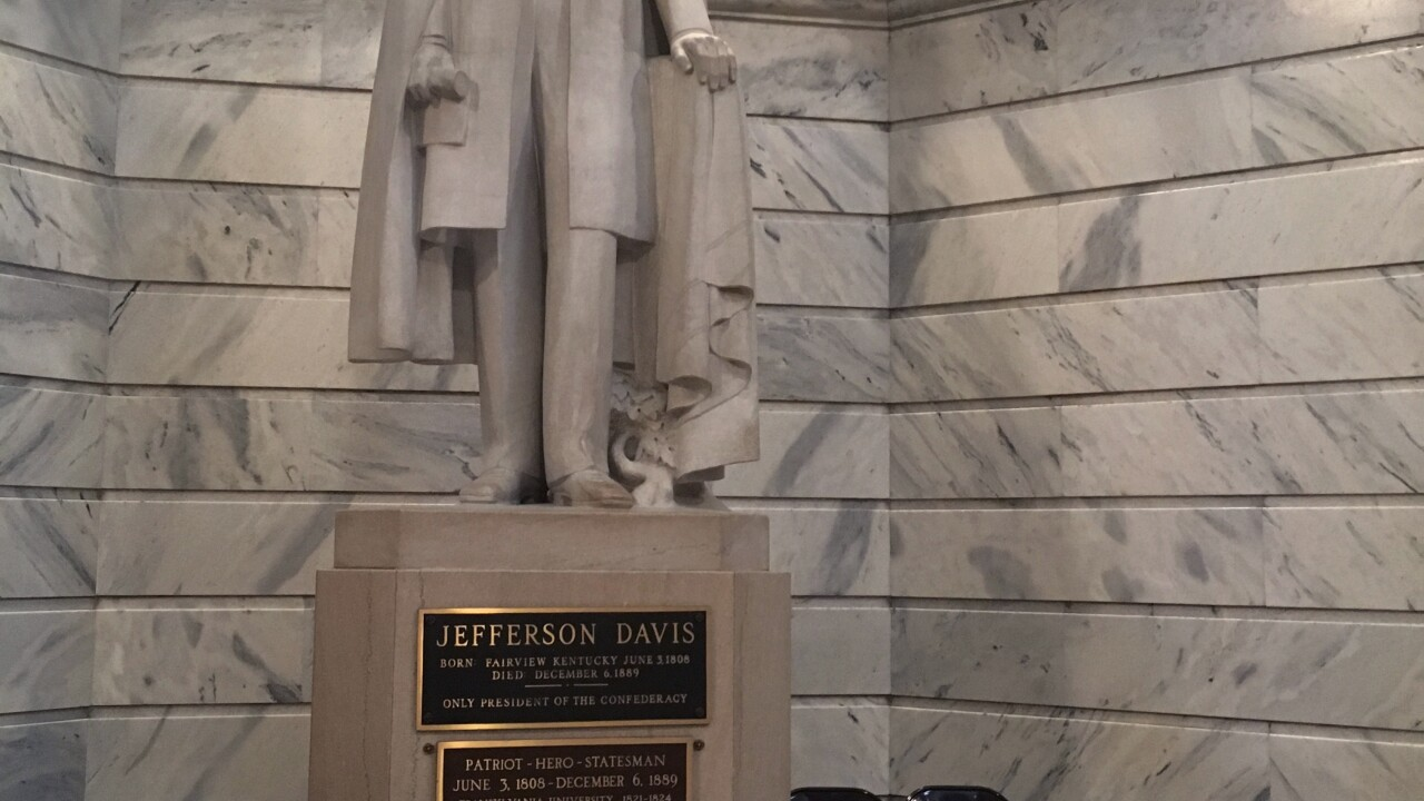Commission votes to remove Jefferson Davis statue from Kentucky Capitol