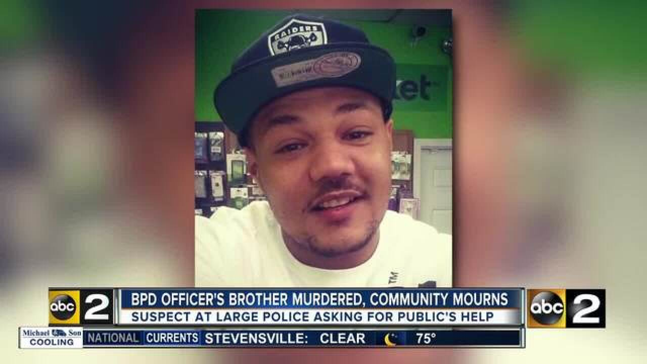 Community mourns death of officer's brother