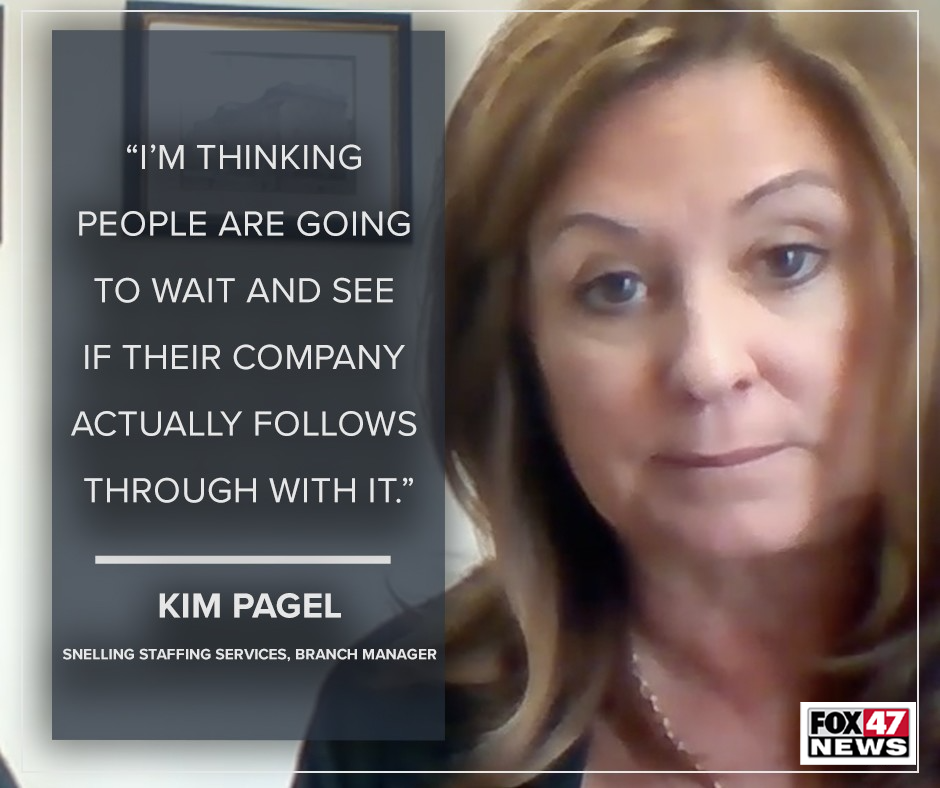 Kim Pagel, branch manager at Snelling Staffing Services