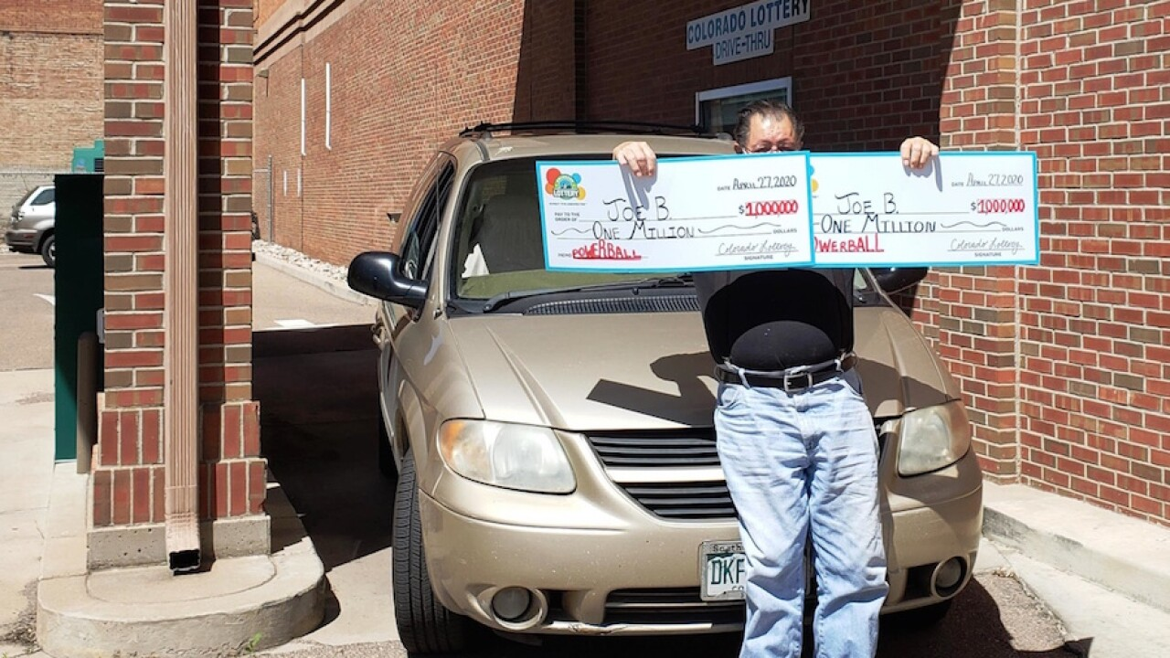 Man in Colorado wins two $1 million lottery prizes on same day