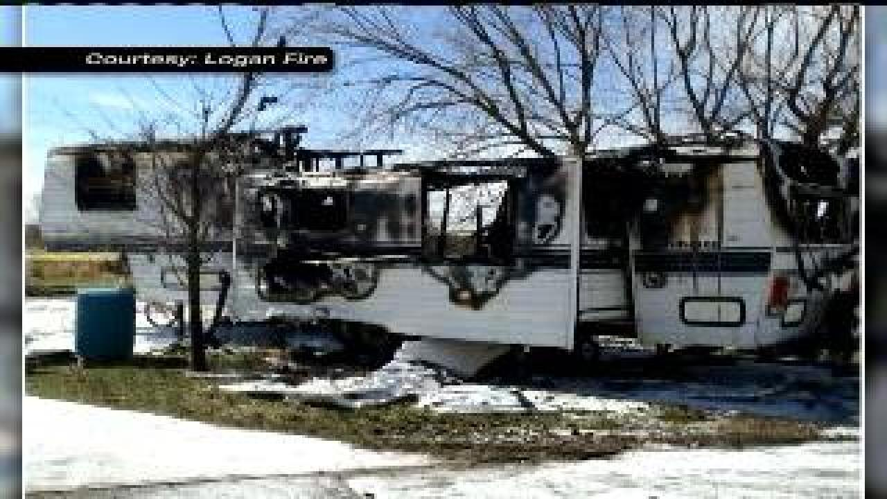 Man arrested for arson after trailer fire