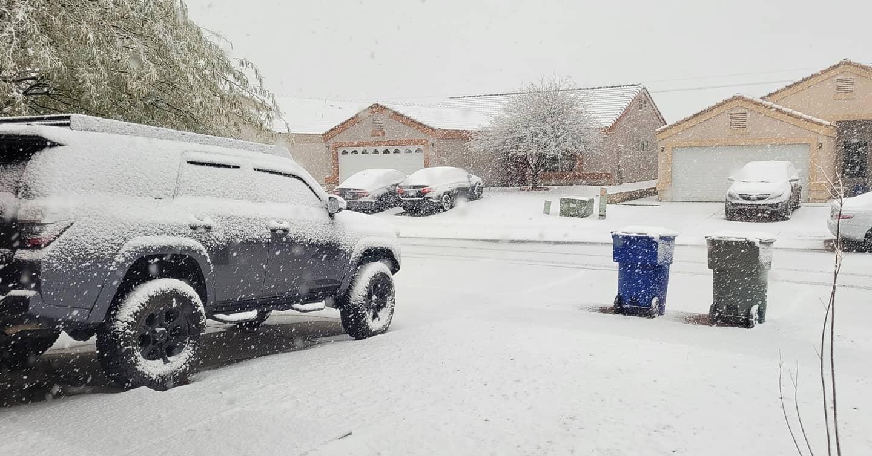 Snow in Rita Ranch