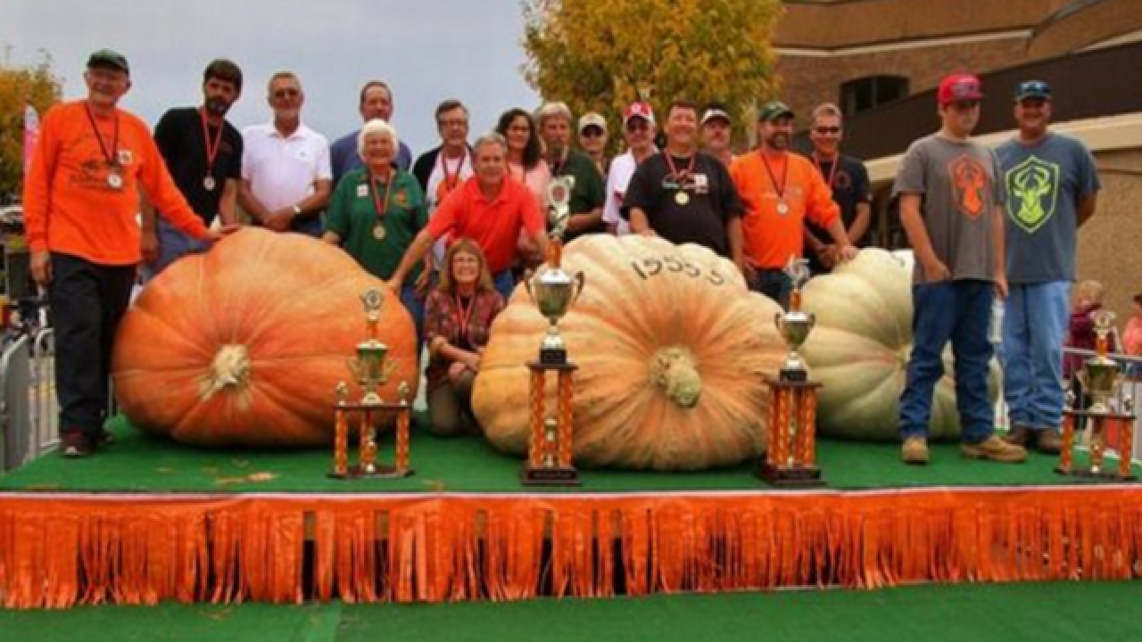 Ohio festival displays 2 1,500-pound pumpkins