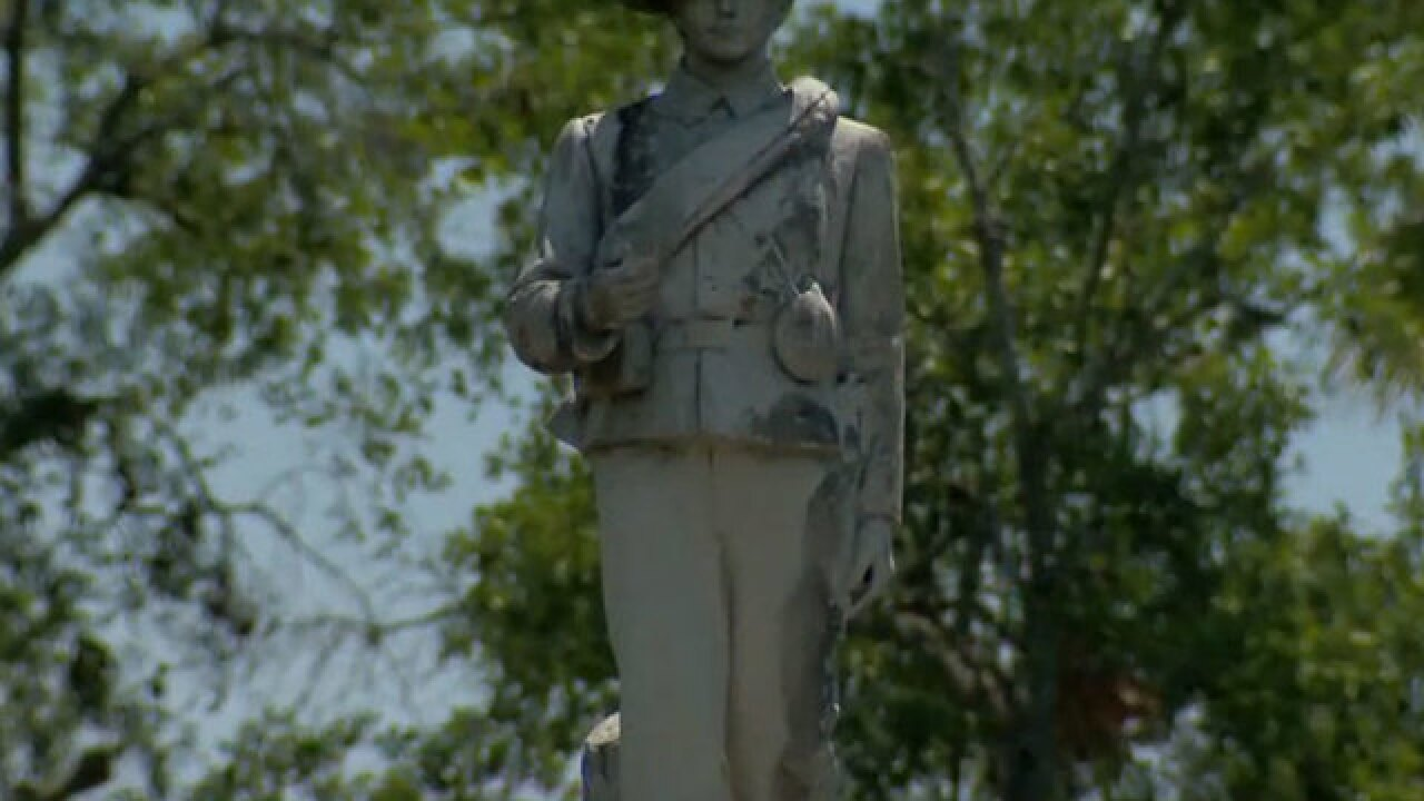 Fate of Confederate statue sparks debate in Orlando