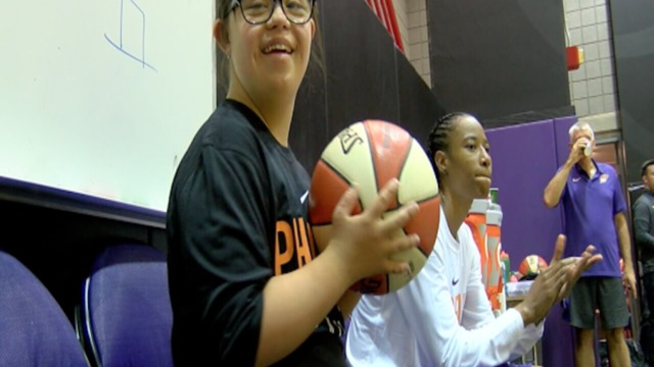 Mercury invite down syndrome student to practice