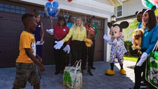 Jermaine Bell spent his Disney vacation savings on food for Hurricane Dorian evacuees. On his seventh birthday, Walt Disney World Resort employees surprised him with a free trip to the parks, complete with a hug from Mickey Mouse.