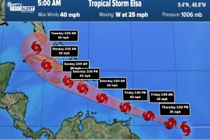 Tropical Storm Elsa forms with most of South Florida in cone of uncertainty